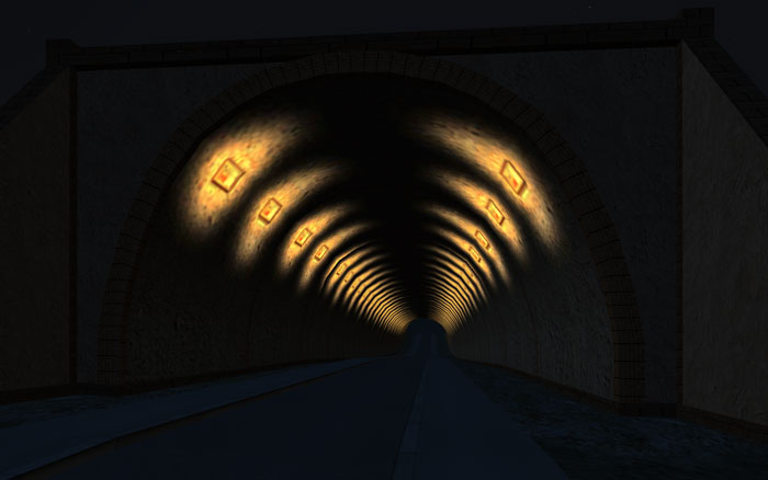 Road Shader with Self-Illumination