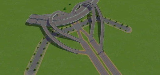 3 Way Heart with Main Road