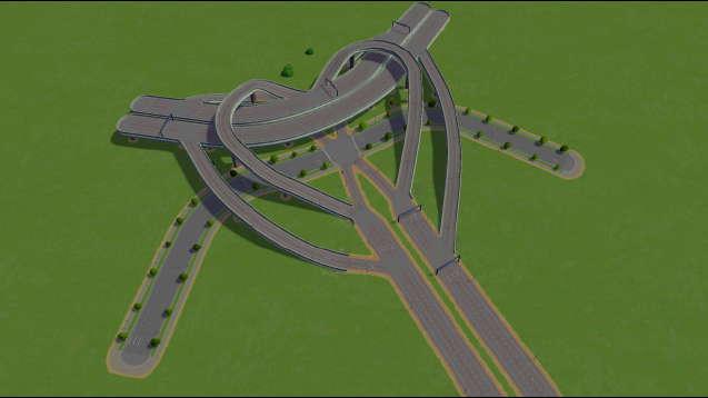 3 Way Heart with Main Road