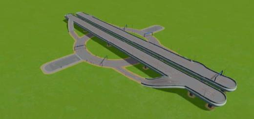 Highway-6 Lane Roundabout