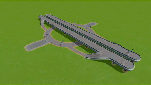 Highway-6 Lane Roundabout