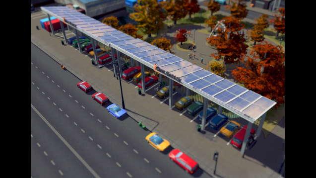 Парковка с солярными панелями