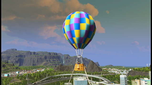 Парк с воздушным шаром