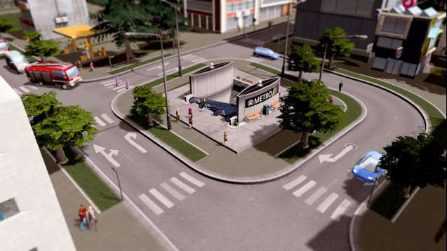 Маленькая станция метро
