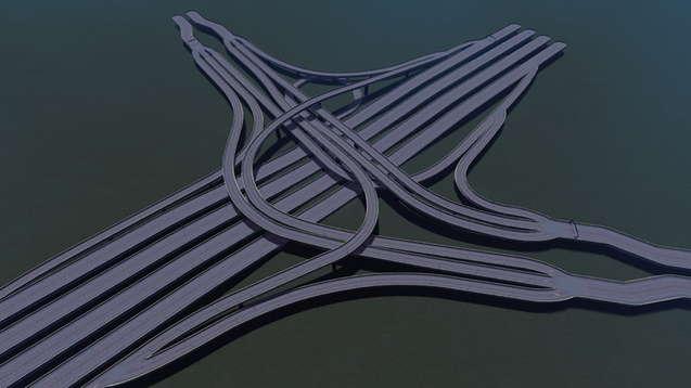 Сплетение трёх шоссе