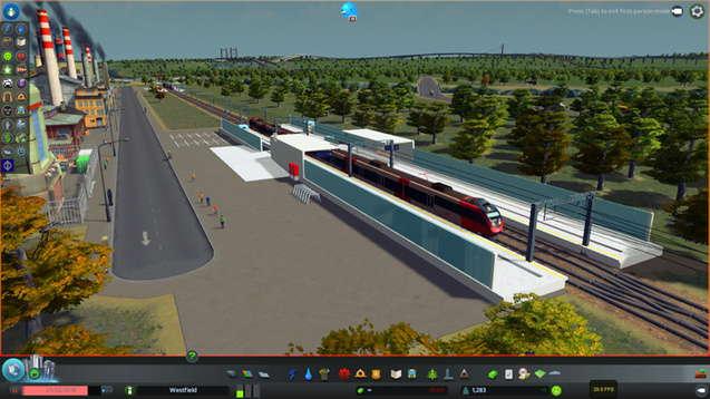 Маленький  Австрийский Железнодорожный Вокзал