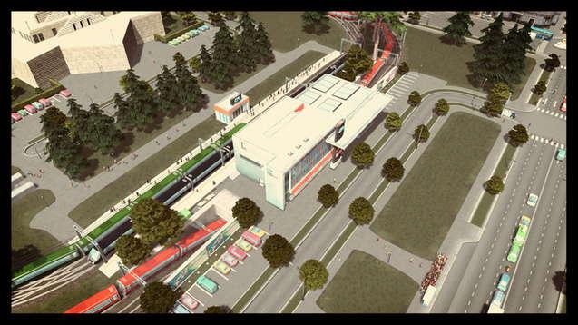 Железнодорожный вокзал с туннелем