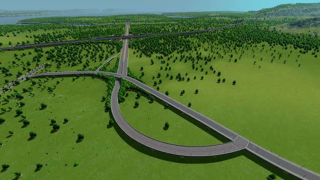 Реалистичная сеть магистралей