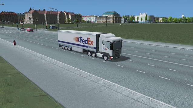 FedEx - грузовик