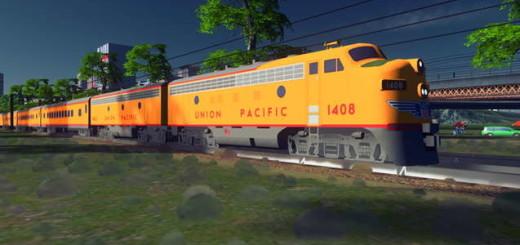 Union Pacific F7 - пассажирский поезд