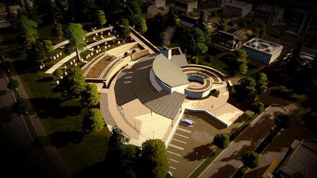 Большой современный крематорий