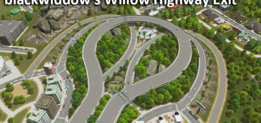 Съезд с заканчивающего шоссе