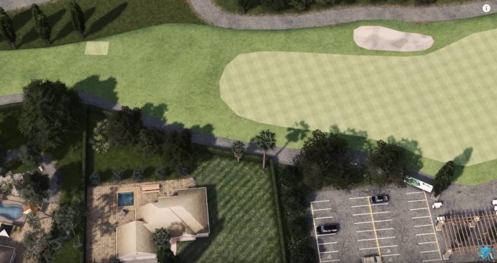 Роскошные дома и поле для гольфа
