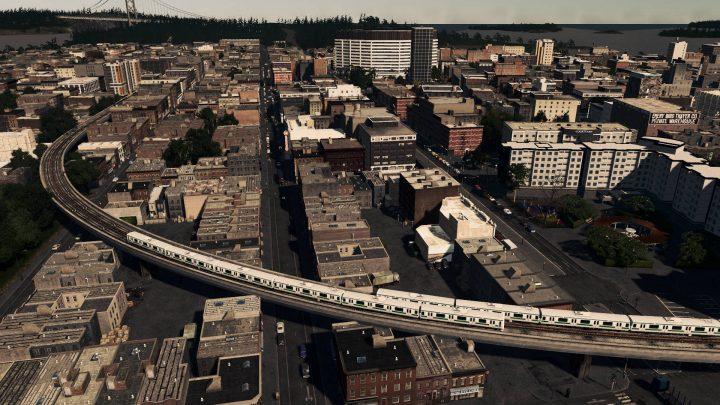 Железная дорога над городом
