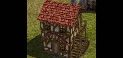 Красочные двухэтажные маленькие дома